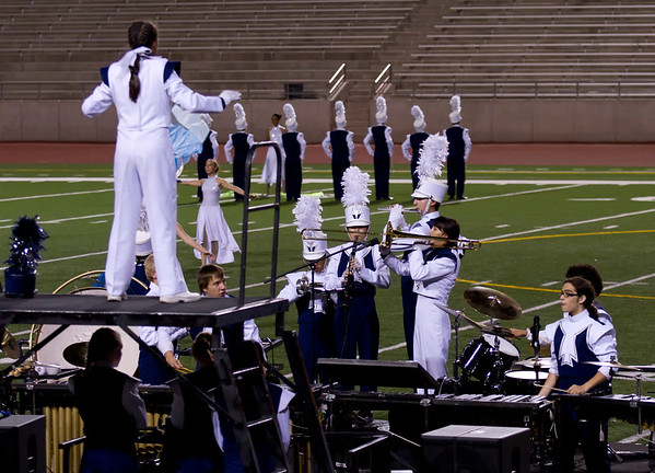 Danielle Chesak performing a trio, with Bonnie Wang and Adrian Ito, at the 2013 UIL Marching Contest.