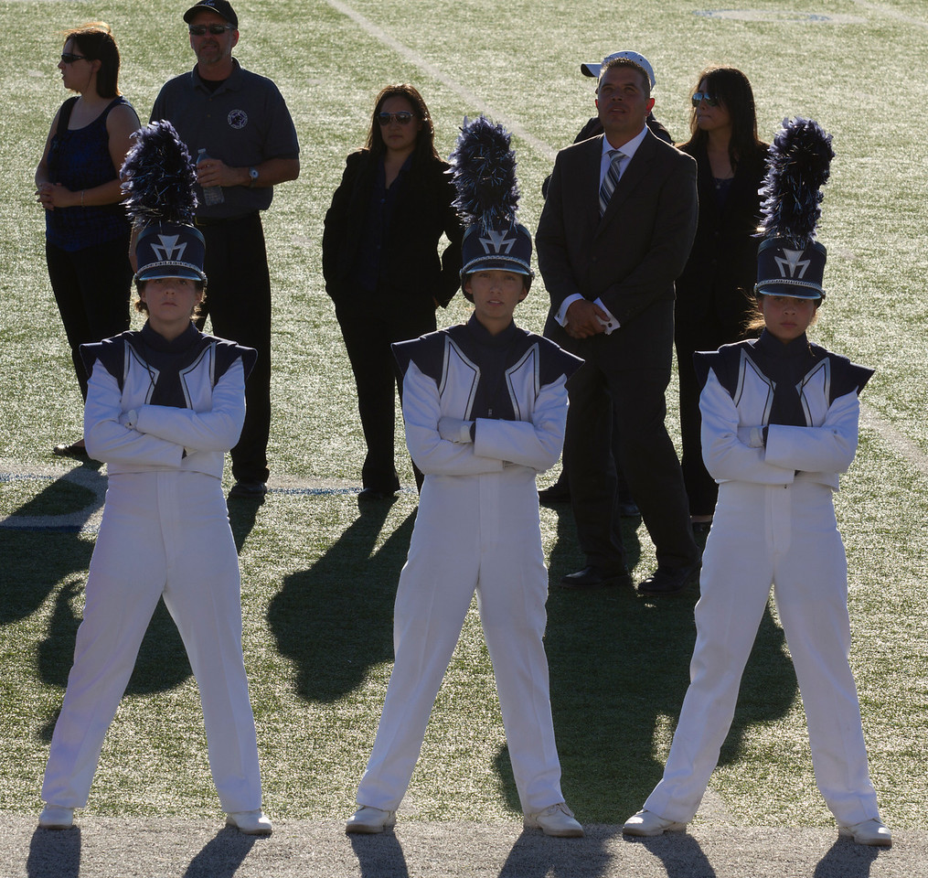 From L to R, Melissa Mitchell, Danielle Chesak, Celeste Carmen.  Drum Majors at the EPISD Invitational Marching Contest where the band received a 1 (Superior Rating)
