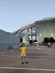 Jordan at AT&T stadium before the Taylor Swift Concert