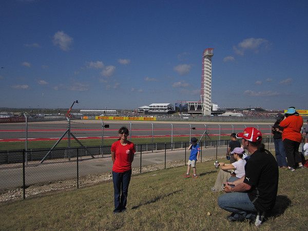Dano at Turn 2 at the Circuit of the Americas racetrack during the 2013 Formula 1 race