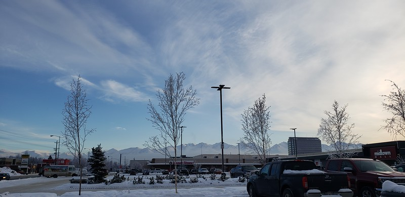 Chugach Mountains from the REI Parking Lot