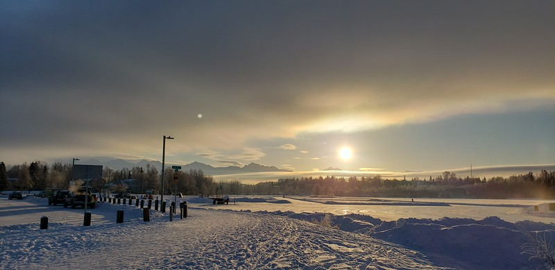 Sunrise over Westchester Lagoon
