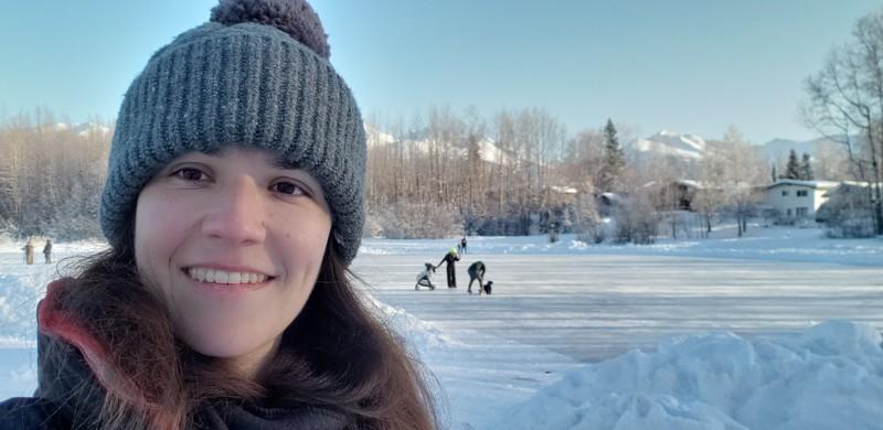 Ice Skating on Cheyney Lake