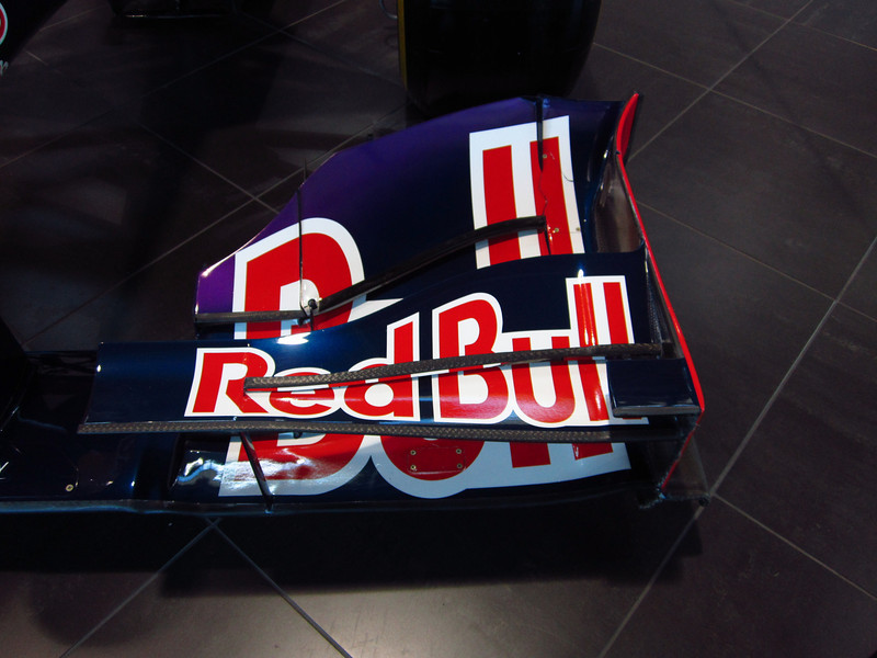 Formula 1 Team Red Bull visiting the Local Infinity dealership in Austin. This is a detail of the front wing.  Photo by Jord
