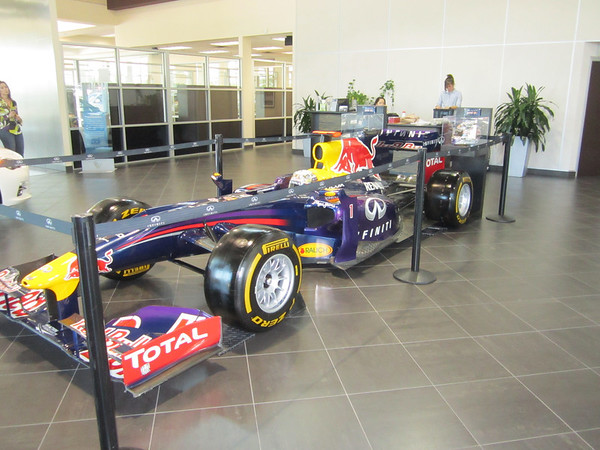 Formula 1 Team Red Bull visiting the Local Infinity dealership in Austin.  Photo by Jord