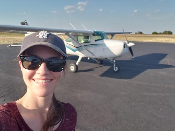 Jordan and N704RC - Cessna 150 in Dublin TX