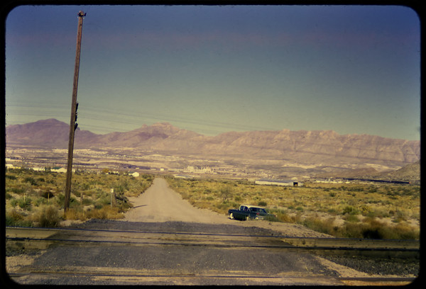 El Paso, Texas 1962, looking East from Anapra