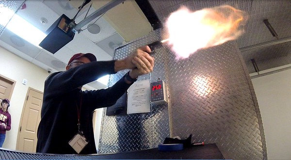 Muzzle Flash Both Reflections Shown