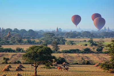 4 Balloons over Bagan