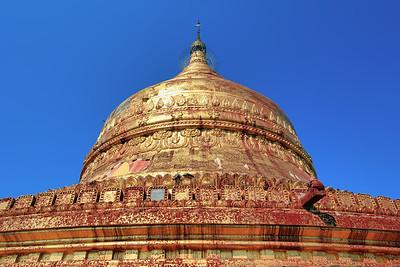 Chedi of Dhammayazika Paya (Pagoda) #2, Bagan (Pagan)