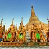 Golden Spires #4, Shwedagon Paya (Pagoda) Yangon (Rangoon) Myanmar (Burma)