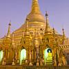 Main Stupa #3, Shwedagon Paya (Pagoda) Yangon (Rangoon) Myanmar (Burma)