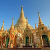 Golden Spires #2, Shwedagon Paya (Pagoda) Yangon (Rangoon) Myanmar (Burma)