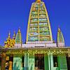 Mahabodhi Style Temple, Shwedagon Paya (Pagoda) Yangon (Rangoon) Myanmar (Burma)