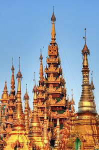Golden Spires #5, Shwedagon Paya (Pagoda) Yangon (Rangoon) Myanmar (Burma)