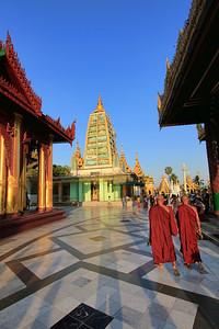Towards Mahabodhi Style Temple, Shwedagon Paya (Pagoda)  Yangon (Rangoon) Myanmar (Burma)