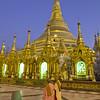 Main Stupa #4, Shwedagon Paya (Pagoda) Yangon (Rangoon) Myanmar (Burma)