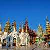 Various Shrines, Shwedagon Paya (Pagoda) Yangon (Rangoon) Myanmar (Burma)