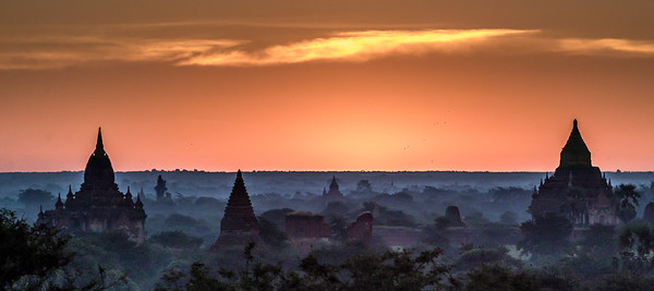 Temples on the plain of Bagan