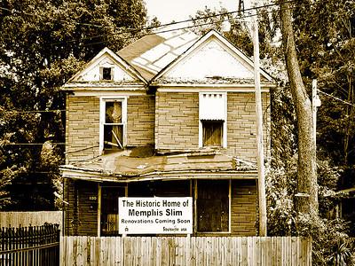 The historic home of bluesman Memphis Slim, Memphis TN