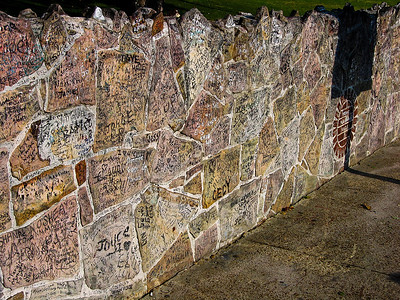 Wall outside of Graceland, home of Elvis Presley, Memphis TN