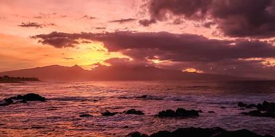 Sunset, Ho'okipa Beach