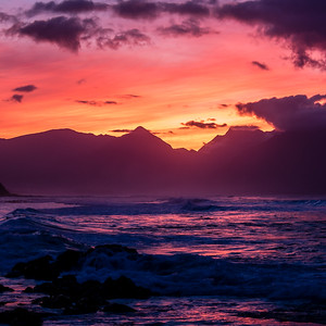 Sunset, Ho'okipa Beach