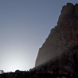 Sunrise behind the Watchmen