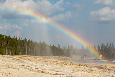 Rainbow at Beehive Geyser