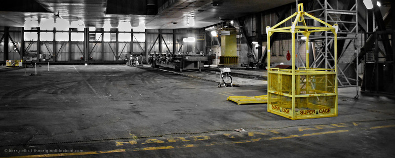 """The """"super cage"""" inside the Vehicle Assembly Building (VAB) at NASA's Kennedy Space Center."""
