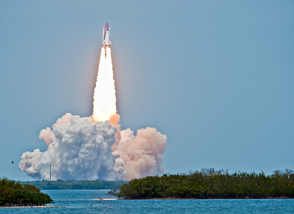 NASA Space Shuttle Atlantis, STS-125, launches May 11, 2009, for the Hubble servicing mission.