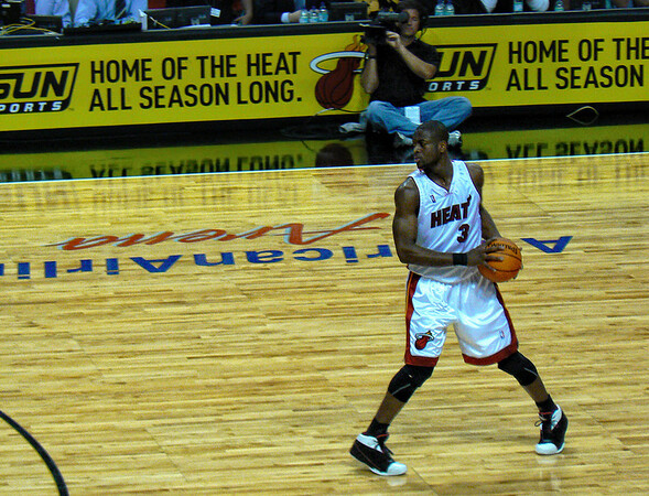 Dwayne Wade, Miami Heat vs. Milwaukee Bucks, Miami Florida