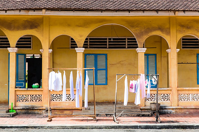 Clean Laundry at the Holy See of the Cao Đài | Tây Ninh, Vietnam