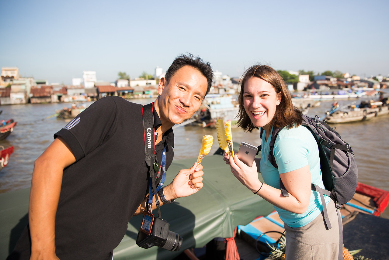 Pineapple with Nghia | Can Tho Floating Market, Vietnam