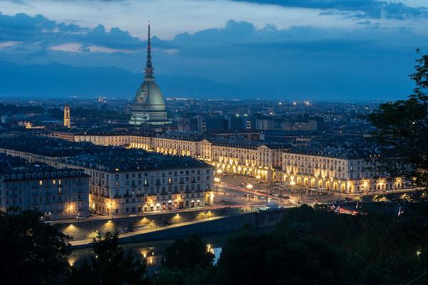 Turin view from Monte di Cappuccini