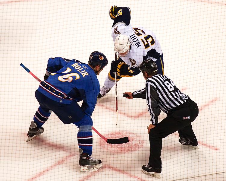 Holik and Hecht at Philip's Arena NHL Atlanta Thrashers