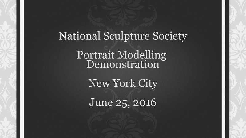 NSS 2016 Portrait Modelling Demonstration