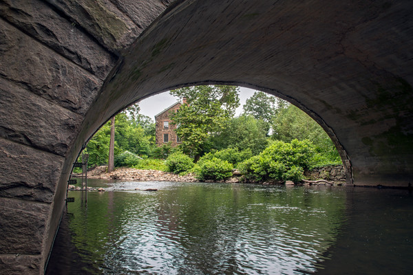 page 22,195,Stone Mill Bridge, the newest of the Garden's many bridges, was constructed in 1950