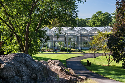 200,The roofs of the Nolen Greenhouses designed by Mitchell/Giurgola Architects open at their peaks to create the perfect environments for growing plants.
