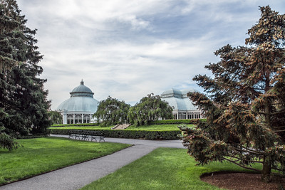 page 78, Raised above the surrounding landscape, the Enid A. Haupt Conservatory serves as a beacon for all Garden visitors.