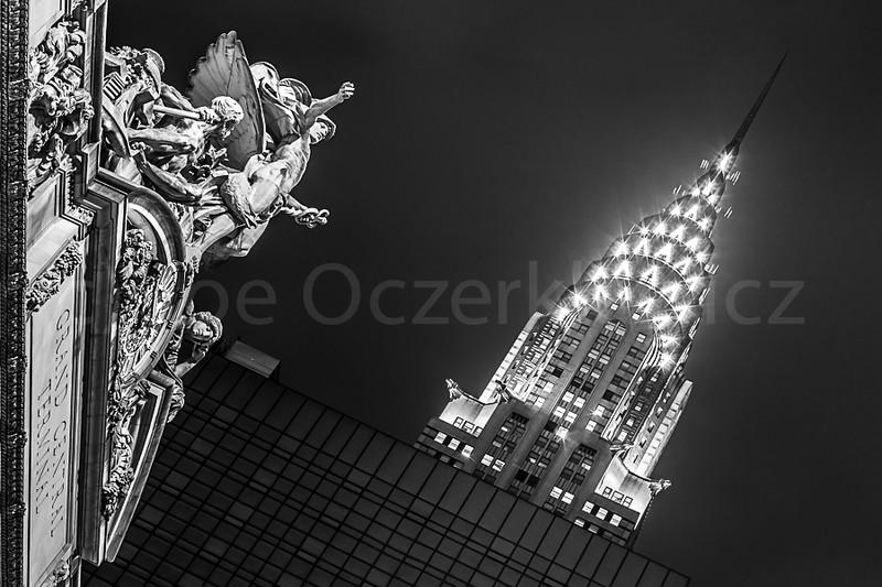 Grand Central's Mercury embraces Chrysler Building
