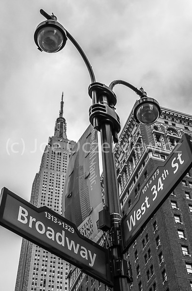 Empire State Building  on 34th St from Broadway