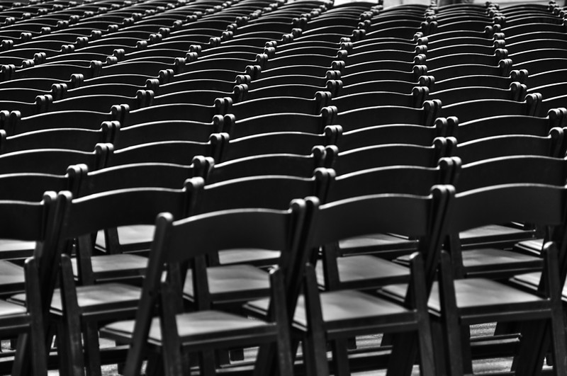Chair pattern in Times Square © Apostolos Zabakas
