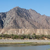Orange River and mountain in South Africa
