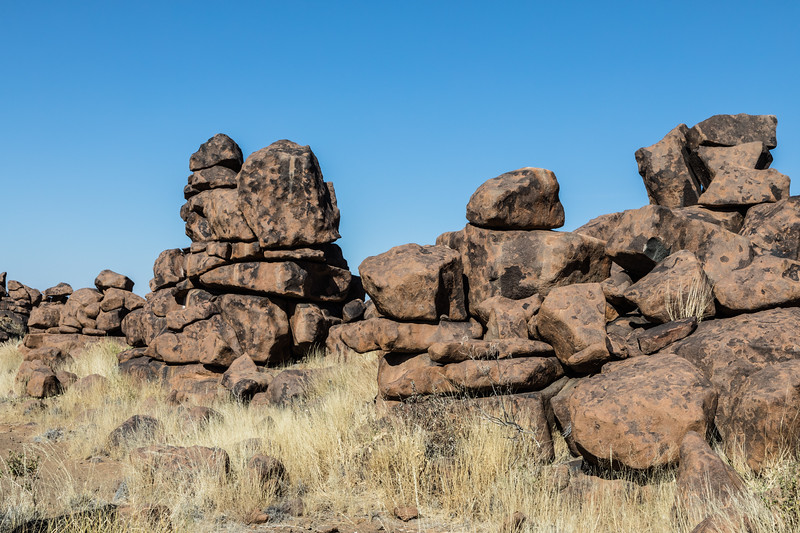 Rock formations in the Giants Playground