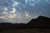 Across the rocky peaks of the Hansberge (Hans Mountains) - in Namibia, just before sunset.