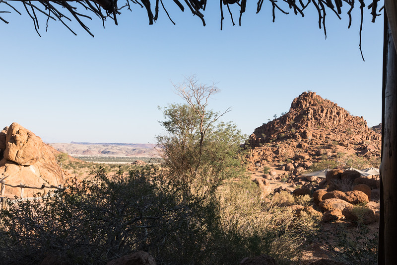 View from a lodge in Damaraland