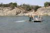 Sendelingsdrif Ferry - across the Orange River to South Africa from here in Namibia, the ǁKaras region.