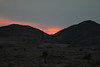 Sunset glow beyond the Hansberg (Hans Mountains) - in Namibia.