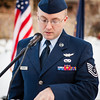"Tech. Sgt. Lee W. Dockery reads names of fallen service members killed in combat in Iraq and Afghanistan during the Veterans Day Memorial Roll Call Monday, Nov. 12, 2012, at Constitution Park.  <div class=""ss-paypal-button"">Filename: LIF-12-3644-81.jpg</div><div class=""ss-paypal-button-end"" style=""""></div>"